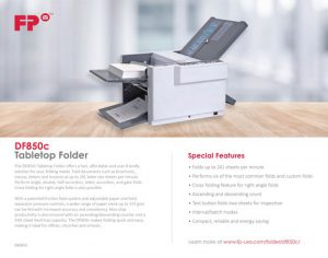DF850c Tabletop Folder Brochure Cover