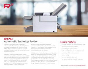 DF870c Brochure Cover